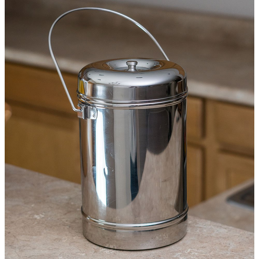 Qualways Stainless Steel 1.8 Quart (Or 60 Oz) Milk Can Tote Model 1 (Small)