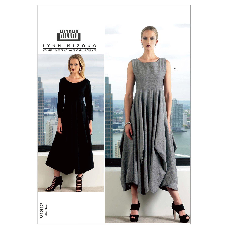 VOGUE PATTERNS V1312B50 Misses' Dress Sewing Pattern, Size B5 (8-10-12-14-16) McCall Pattern Company