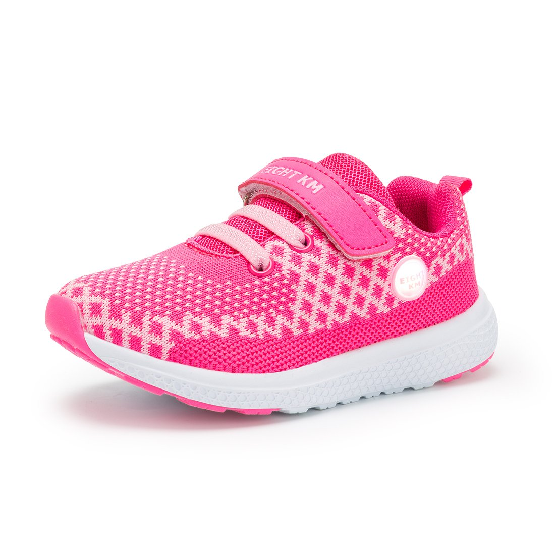 EIGHT KM EKM002 Toddler Girls & Boys Sneakers Light up Shoes Pink-5.5