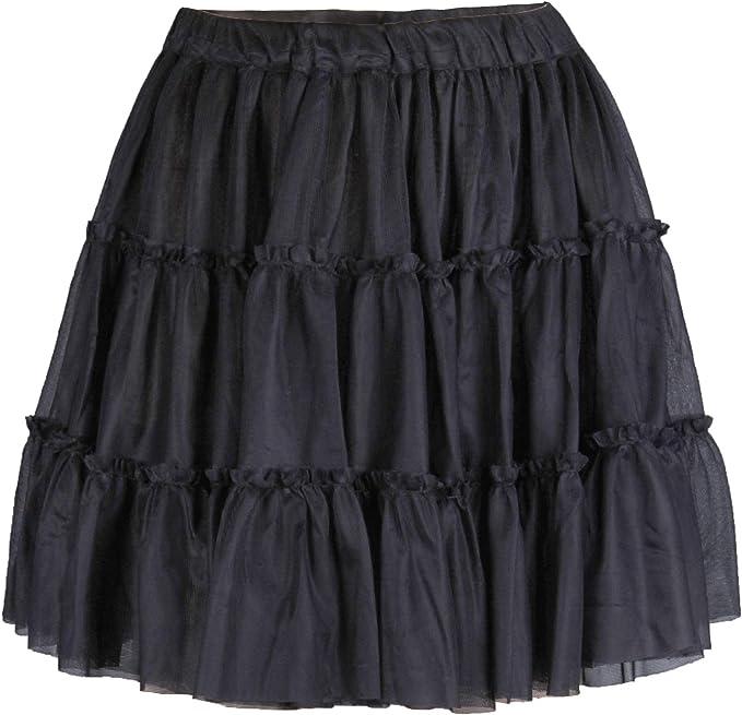 Flora - Falda - Enaguas - para niña Negro Negro Talla única ...