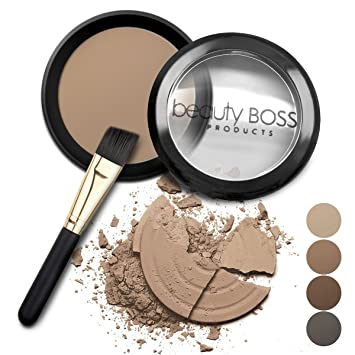 eyebrow powder. natural eyebrow powder waterproof fill-in mineral coloring kit get perfect brows includes brush p
