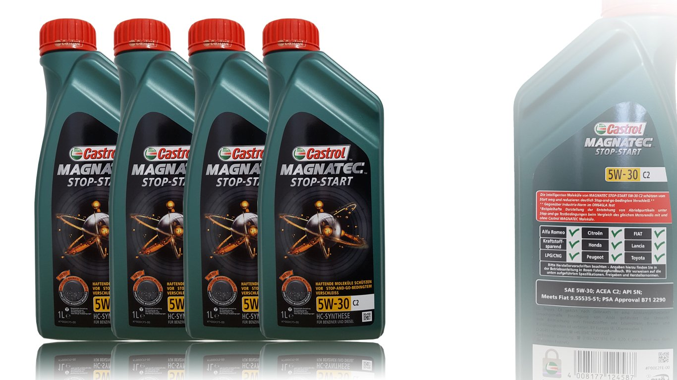Castrol Oil Change >> 4x 1 L 4 Litre Castrol Magnatec 5w 30 C2 Engine Oil Incl
