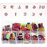 Baisidai 540 Pcs 27 Color French False Acrylic Gel Nail Art Tips Half with Box Salon Set