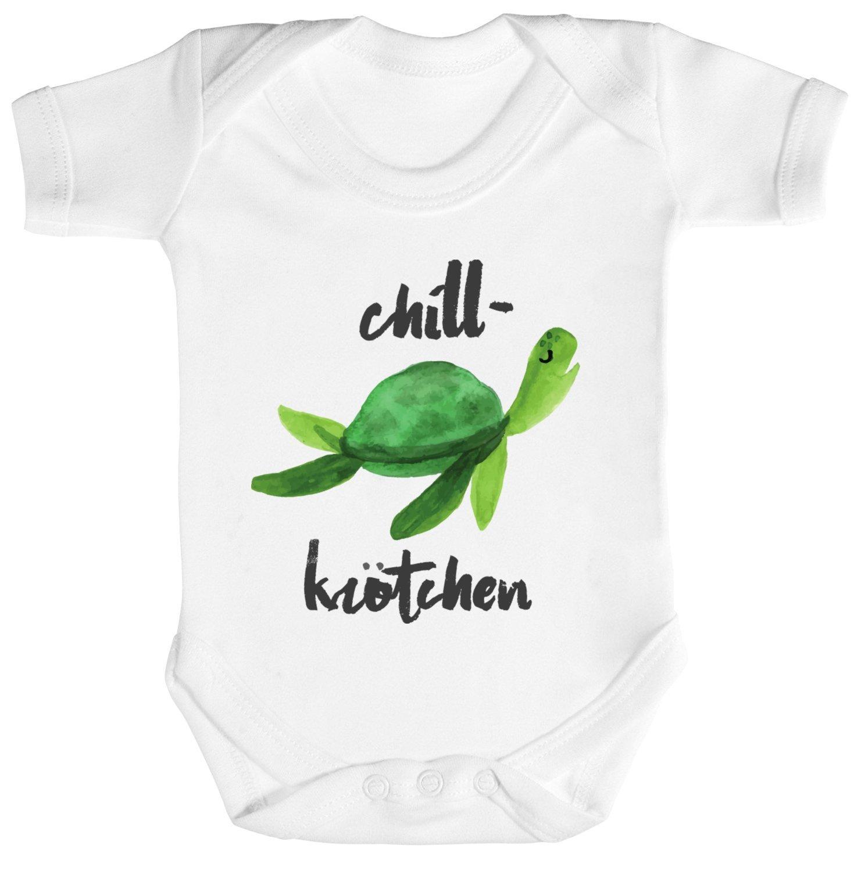 ShirtStreet Turtle Schildkröte Strampler Bio Baumwoll Baby Body ...
