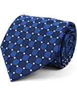 Men's Geometric Microfiber Poly Woven Tie