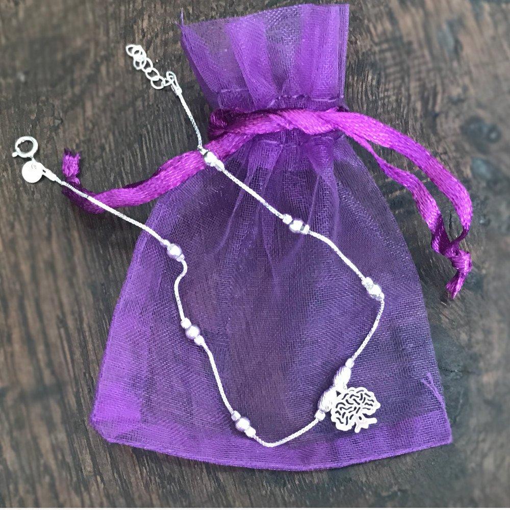 Cha/îne de cheville arbre de vie argent massif bracelet de cheville en argent 925 avec une breloque de 1 cm arbre de la vie