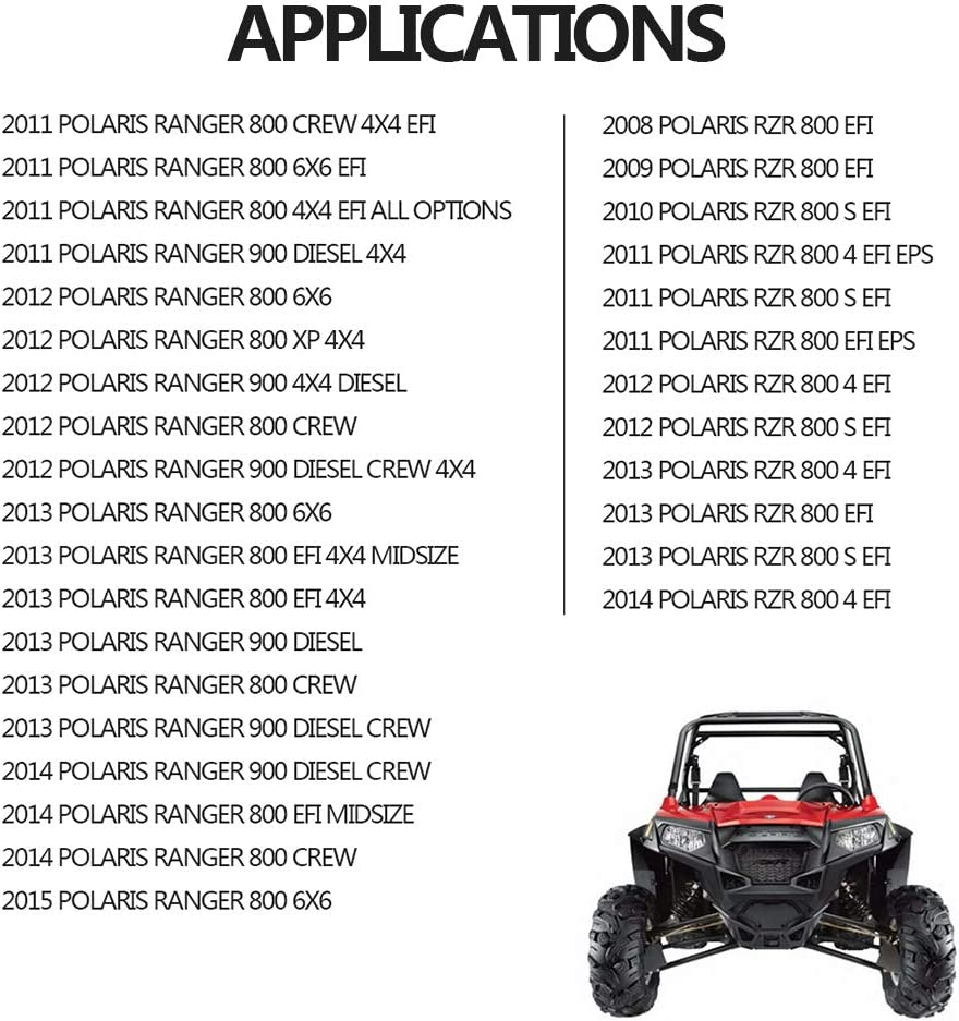 Air Filter For Polaris RZR 800/RZR 800 4/RZR 800 S RANGER 800/900 ...