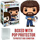 Funko Pop! Television: The Joy of Painting - Bob Ross #524 Vinyl Figure (Bundled with Pop BOX PROTECTOR CASE)