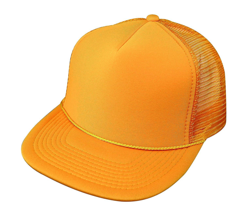 Classic 5 Panel Retro Flat Bill Blank Mesh Trucker Snapback Hat Hats Cap Caps 5FBC
