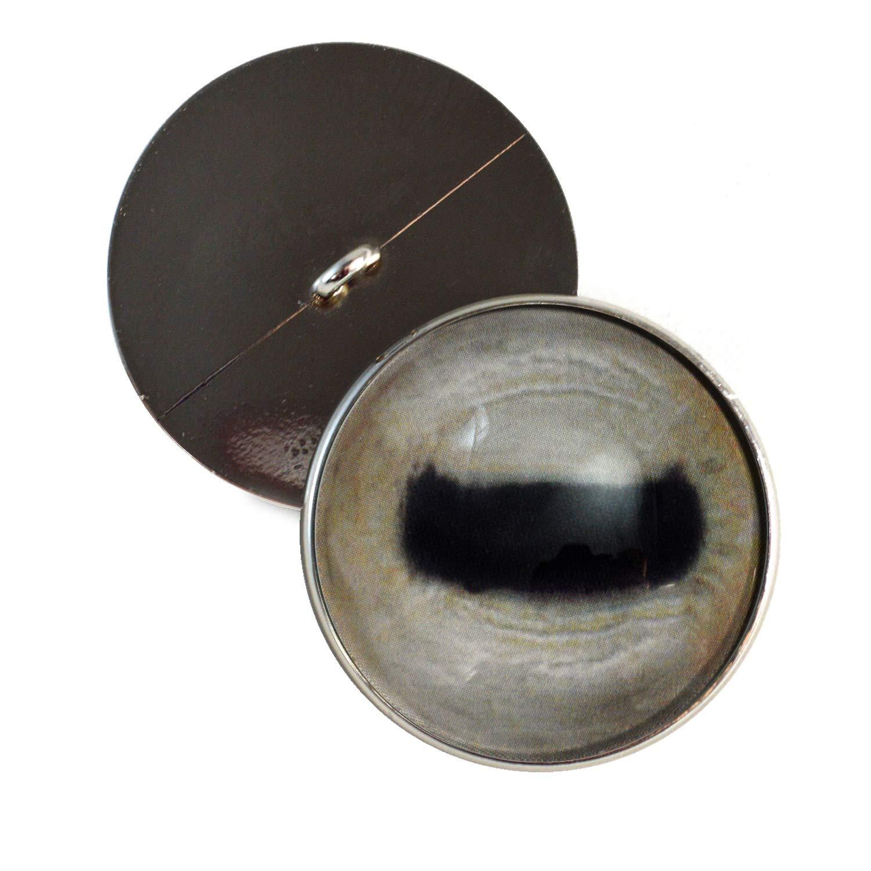 30mm ペールヤギ 縫い付けガラスの目ボタン かぎ針編みの人形用ループ付き ぬいぐるみ ソフト彫刻 ジュエリー製作 2点セット B07GZV3DS2