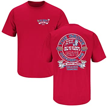 new concept dc341 9bf3b Smack Apparel Ole Miss Football Fans. The Grove. Red T Shirt (Sm-5x)