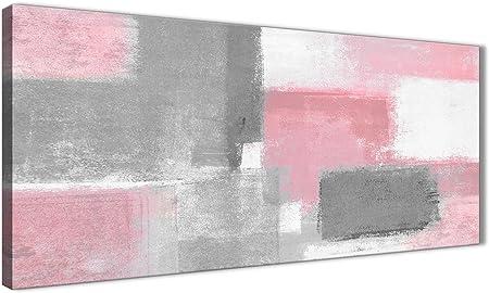 Blush Rose Gris Peinture Salon Toile Décoration Murale Accessoires Abstrait 1378 120 Cm Imprimé Wallfillers