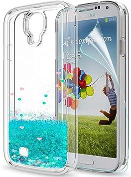 LeYi Compatible con Funda Samsung Galaxy S4 Silicona Purpurina ...