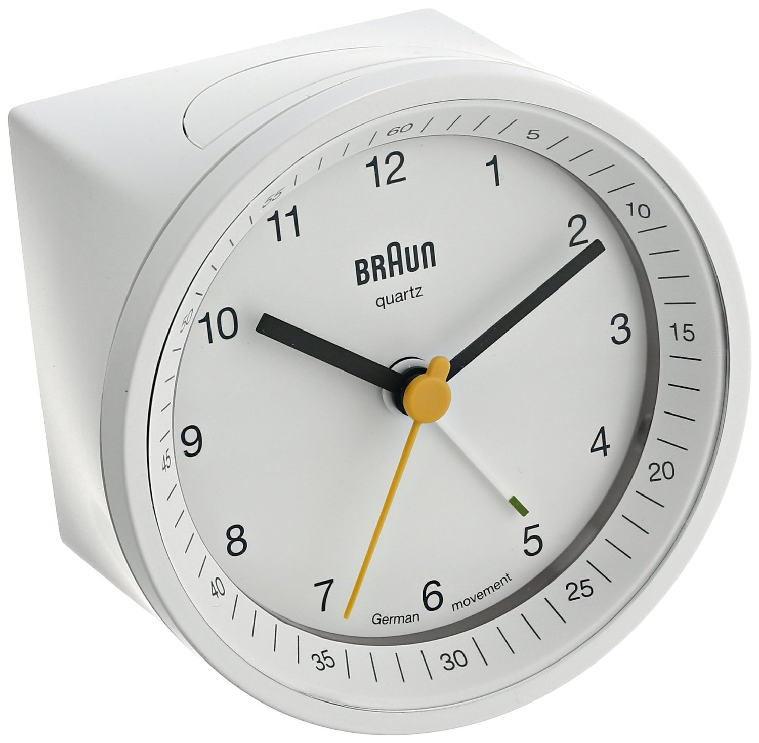Braun BNC007WHWH Classic Light Analog Quartz Alarm Clock [並行輸入品] B013D0ZNLE