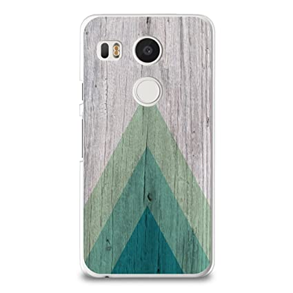 purchase cheap a1c86 35e50 CasesByLorraine Case for Nexus 5X, Wood Print Geometric Triangle Pattern  Case Plastic Hard Cover for LG Nexus 5X (S01)