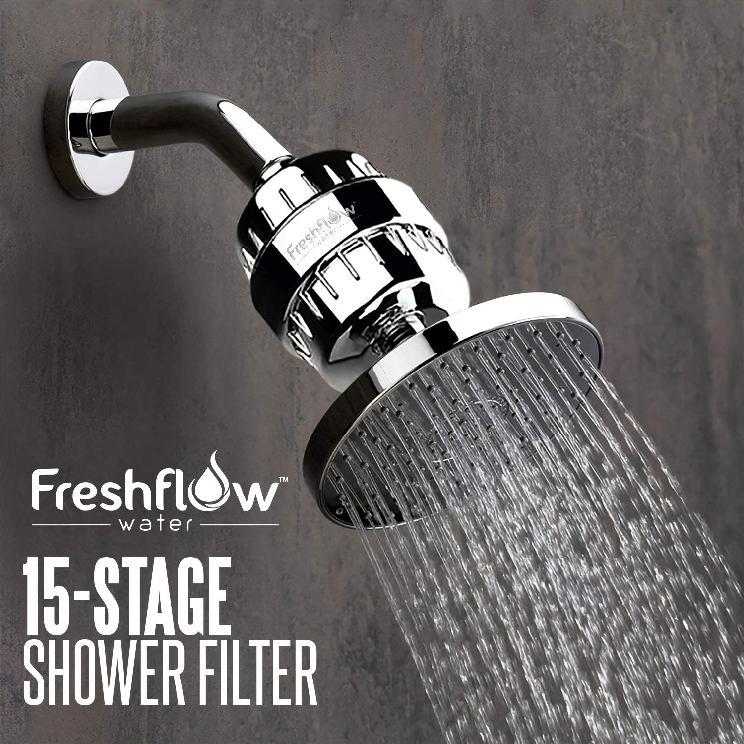 Freshflow Shower Head Water Filter in real life