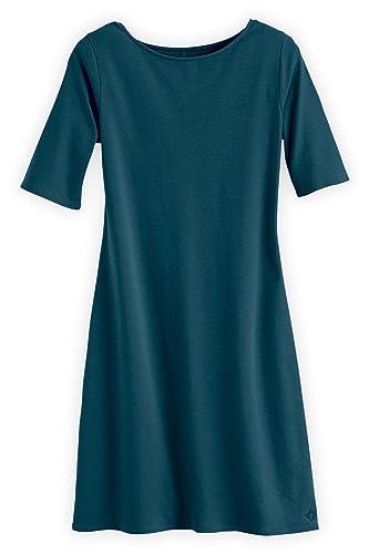 Fair Indigo Fair Trade Organic Boat Neck Dress
