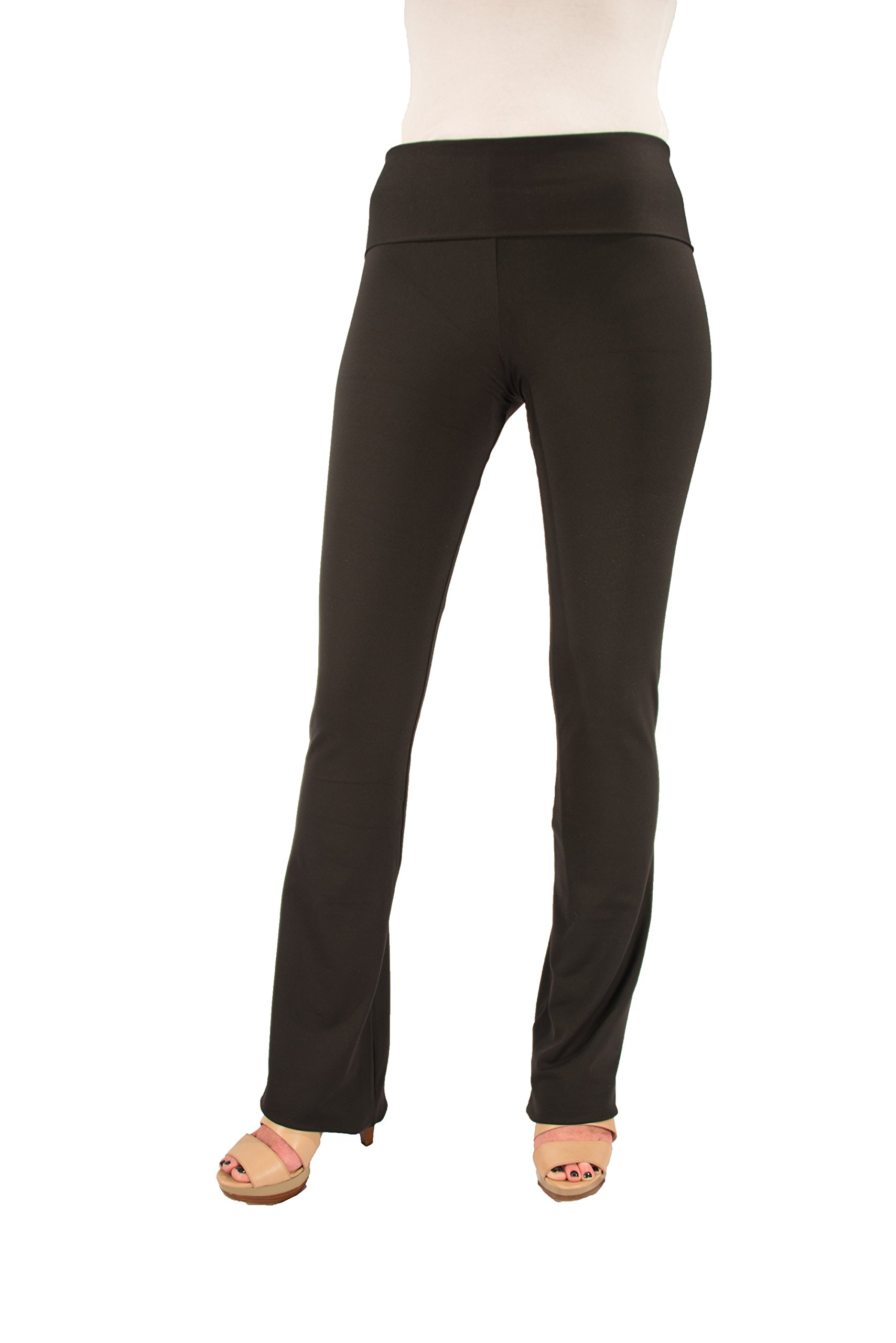 Hold Your Haunches ''As Seen on Shark Tank'' Women's Booty Patootie Bootcut Pants -L-Black-32''Inseam