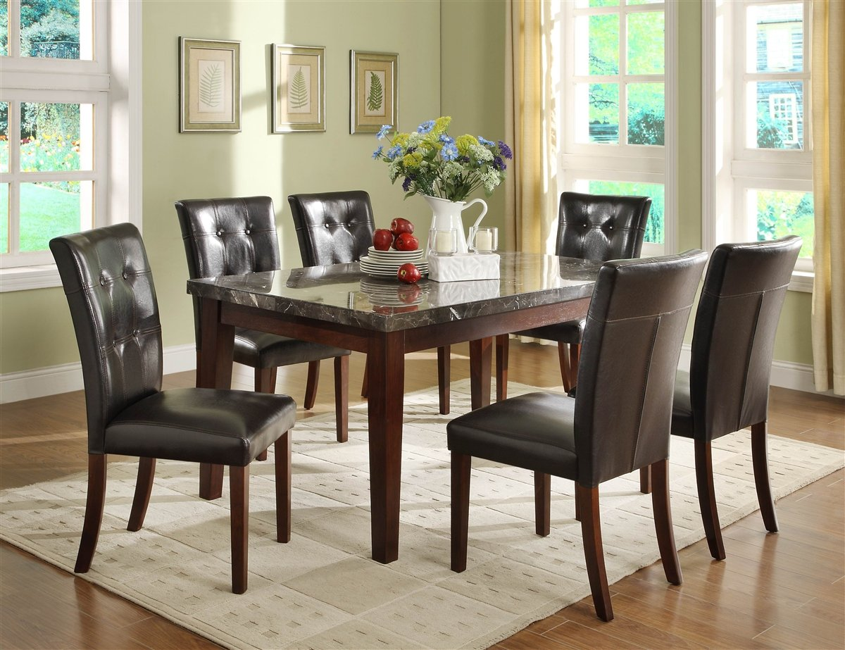 Amazon.com - Homelegance Decatur 5 Piece Dining Table Set in ...