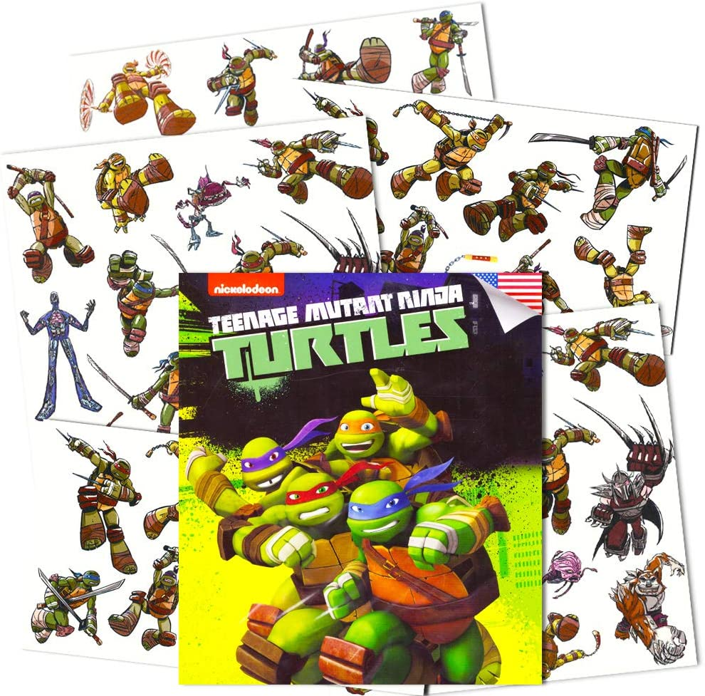 Teenage Mutant Ninja Turtles Temporary Tattoos for Kids (Party Supplies Pack)