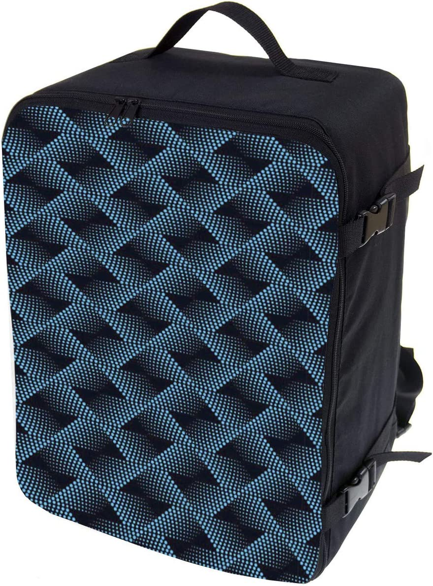 Multifunctional Carry on Backpack Blue Pattern