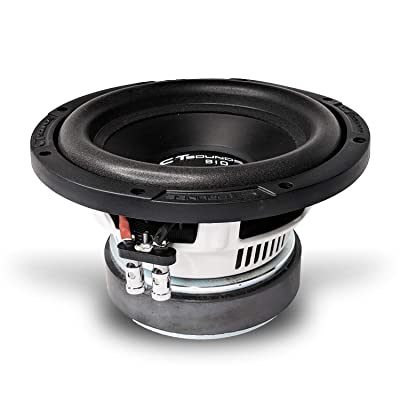"CT SOUNDS 8 Inch Car Subwoofer - 500W Peak Power, Dual 4 Ohm 2"" Voice Coil, Versatile & Powerful Base Subs, Rubber Surrounded, Easy Mounting - BIO 8 D4: Home Audio & Theater"