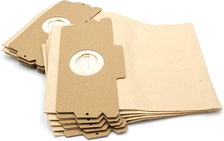 vhbw 10 Bolsas de papel para aspiradoras, bolsas de filtro, tamaño ...