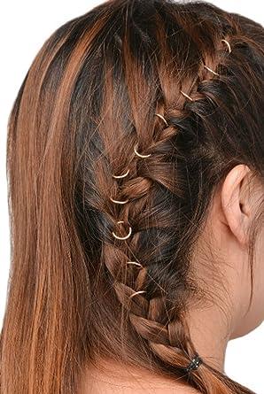 10 pcs Rings Set Hair Clip Headband Hair Accessories ( gold color ...