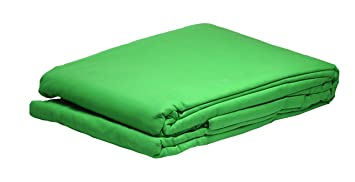 Bresser Y-9 Tela de fondo color verde croma 6x6m: Amazon ...