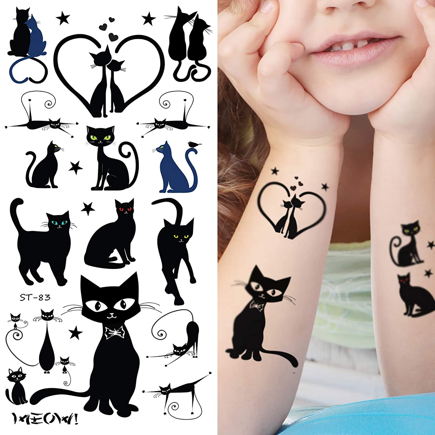 Supperb Temporary Tattoos - Cats (Black Cats)
