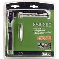 Grapadora Cercas FSK20 con Cargador SALKI - Alicates para Vallas con Cortador de Alambre…