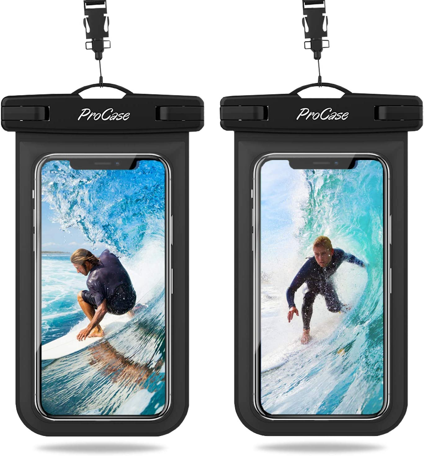 ProCase 2 uds. Funda Estanca Móvil Universal para iPhone SE 2020/iPhone 11 Pro Max/XS/XR/X/8/7, Galaxy Note10+/S20 Ultra/S10e/S9+, Huawei Xiaomi Redmi Honor BQ hasta 6,9