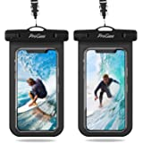 "(2 Pack) ProCase Universal Waterproof Pouch IPX8 Waterproof Cellphone Dry Bag Underwater Case for iPhone Xs Max XR X 8 7 6S Plus, Galaxy S10+ S10e S9 S8+/Note10 10+ 5G 9, Pixel 4 XL up to 6.8"" -Black"