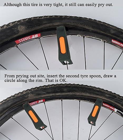 Tagvo Kits de reparación de tubos interiores de bicicletas, 4 piezas Kit de reparación de neumáticos de bicicletas para cambios de neumáticos de bicicletas ...