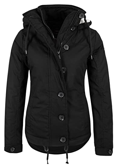 Temperament Schuhe exquisiter Stil beste website Sublevel Sportliche Damen Winter-Jacke mit Kapuze tailliert