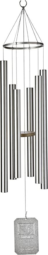 Aluminum 42 inch Summer Daydream Wind Chimes by Grace Note 4-M silver