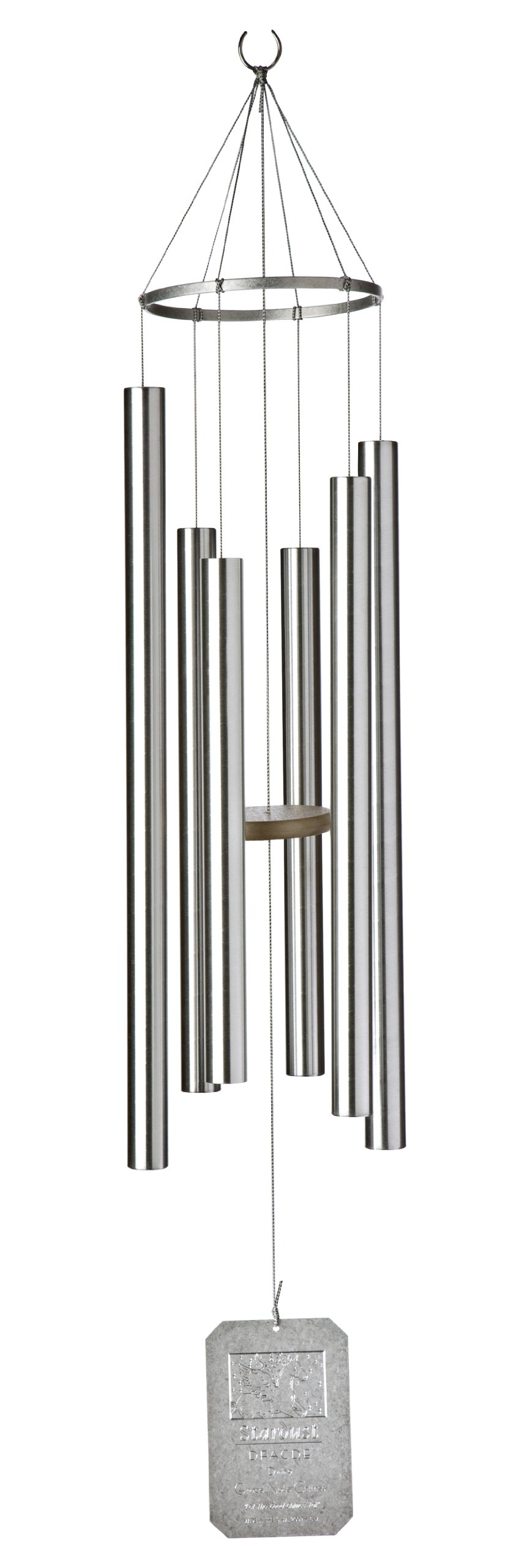 Grace Note Chimes 3M 42-Inch Himalayan Echo Wind Chimes, Medium, Silver