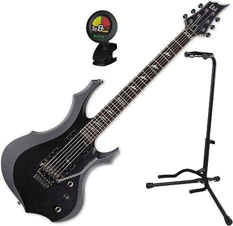 Esp Ltd F-200 fr CHM guitarra eléctrica w/stand y sintonizador ...