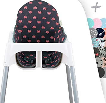 Excellent Janabebe Cushion For High Chair Ikea Antilop Fluor Heart Caraccident5 Cool Chair Designs And Ideas Caraccident5Info