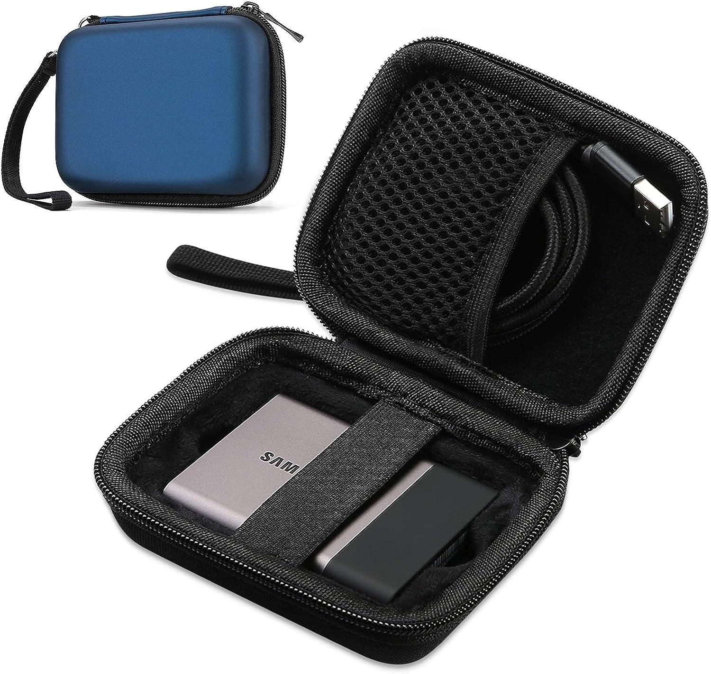 ProCase Estuche para Samsung T5/T3/T1, Funda Rígida de Transporte para Disco Duro Externo SSD 250GB 500GB 1TB 2TB SSD USB 3.1 Unidad Estado Sólido -Azul: Amazon.es: Electrónica