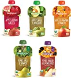 Happy Baby Clearly Crafted Stage 2 Organic Baby Food 5-Flavor Variety Sampler (Pack of 10)