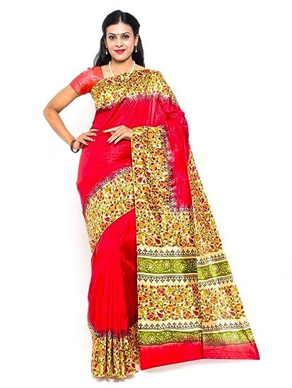 8b4479409adf68 Roopkala Women Mysore Art Silk Plain   Printed Border Saree (DB-1726 ...