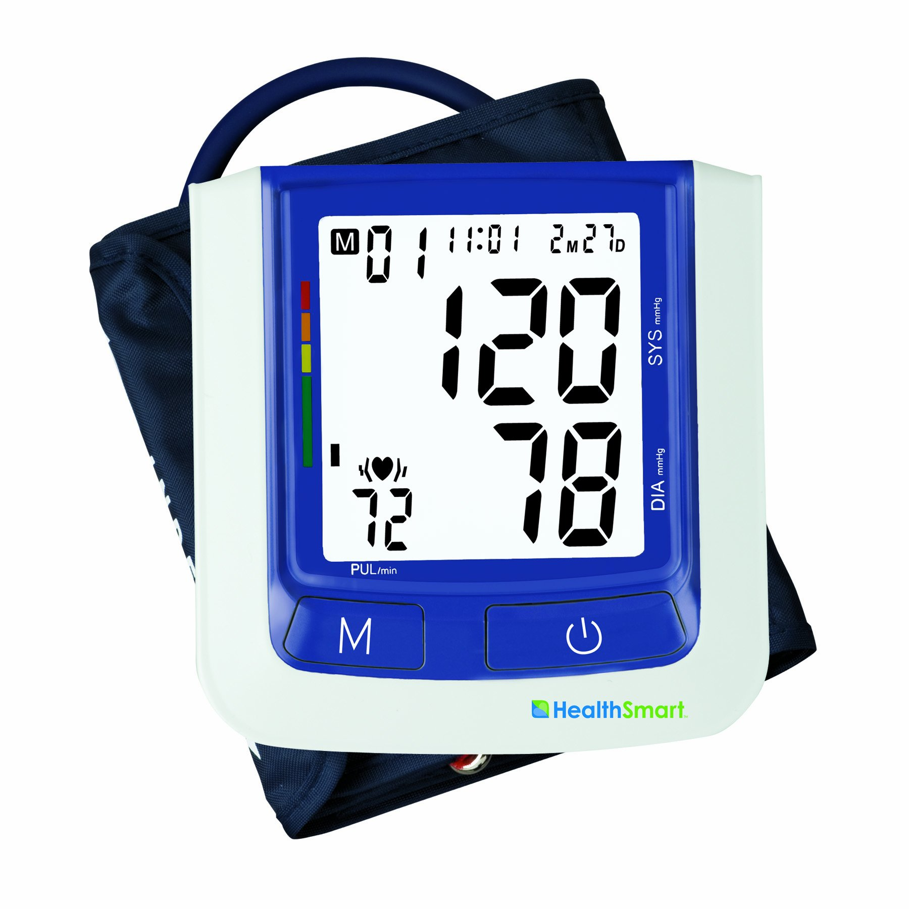 HealthSmart Premium Talking Automatic Digital Blood Pressure Monitor, Bilingual, Blue by HealthSmart