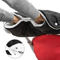 Guanti Passeggino, Boonor Guanti per Passeggino Proteggi-mani scaldamani antigelo accessori, manicotto con interno in pile, misura universale per passeggino, buggy, rimorchio per la bicicletta