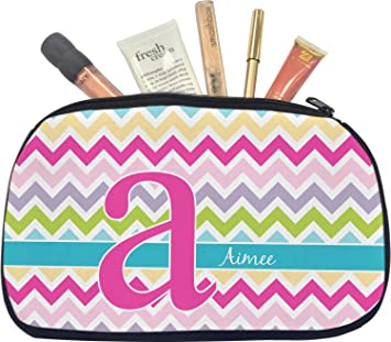 41fb1c957d0c Amazon.com   Colorful Chevron Makeup Cosmetic Bag - Medium (Personalized)    Beauty