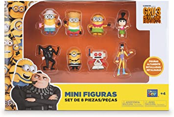 Bizak Minions - Pack de 8 Mini Figuras 61230017: Amazon.es ...