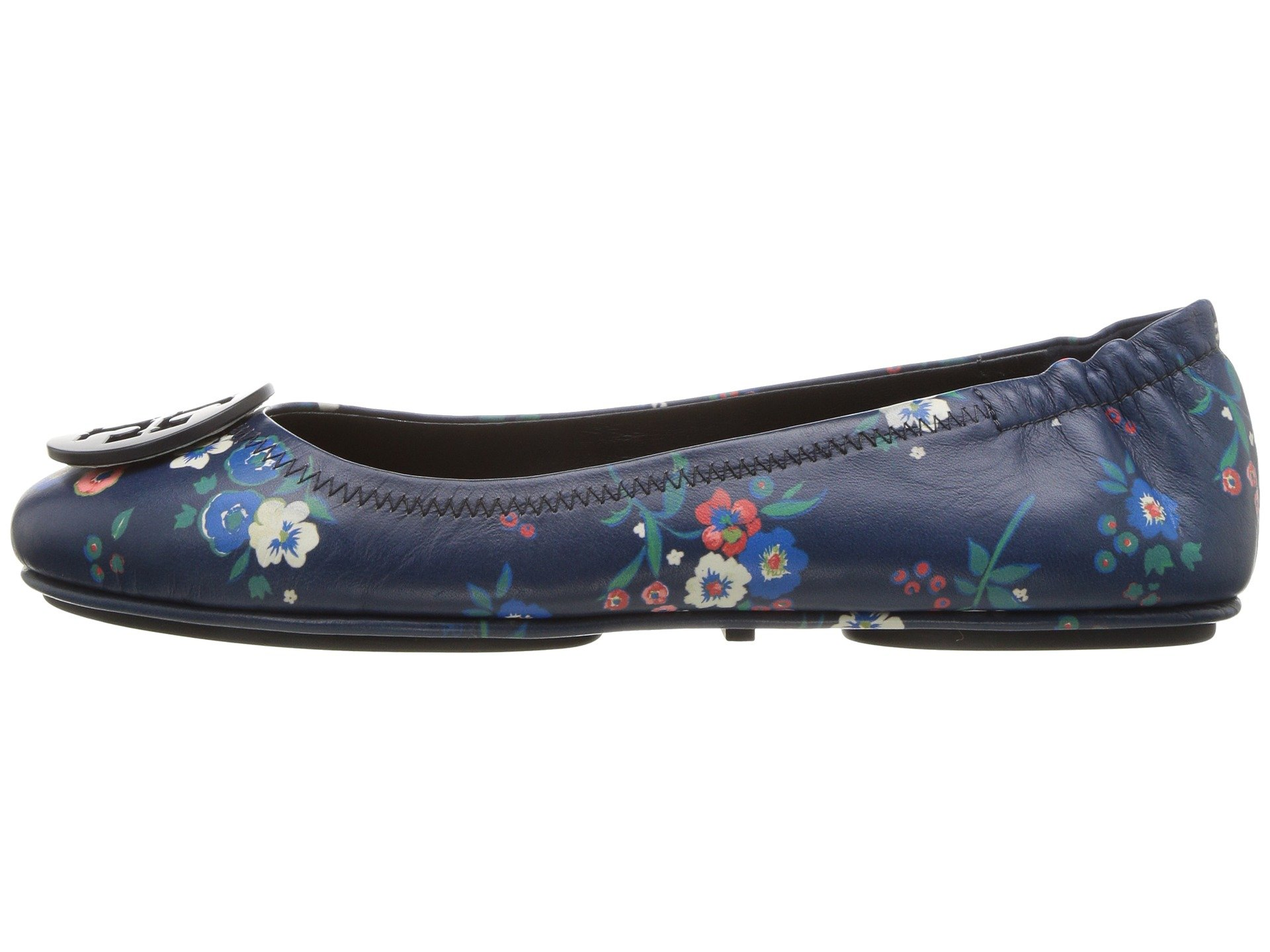 Tory Burch Minnie Travel Floral Print Lether Ballet Flat Size 8 by Tory Burch (Image #6)