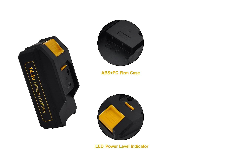 /./…/… Powerland 1300/mAh Replacement Battery For Cordless Drill Driver D018/10.8/V//12/V 14.4/V//16/V 18/V//20/V/