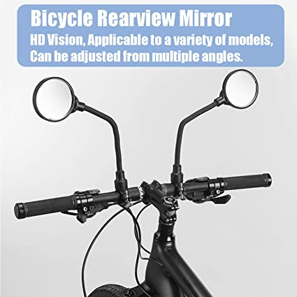 2 Pack Safe Rearview Bicycle Convex Mirror Bairuiou 360/° Adjustable Rotatable Bike Mirror