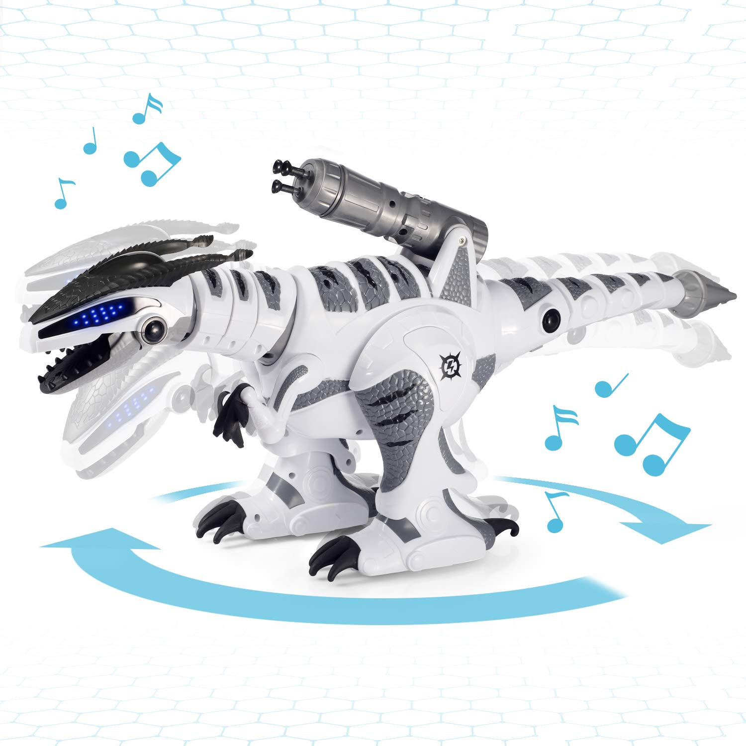 SGILE RC Dinosaur Robot Toy, Smart Programmable Interactive Walk Sing Dance for Kids Gift Present by SGILE (Image #4)